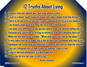 Lies and How They Can Destroy Your Business and Marriage