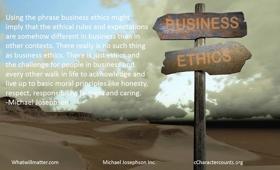 Using the phrase business ethics